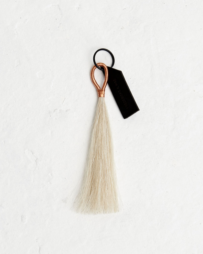 Brass Wire White Tassel - Founders & Followers - Fredericks & Mae