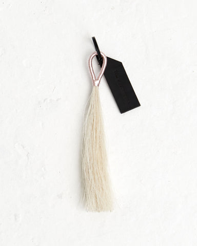 Rose Gold Wire White Tassel - Founders & Followers - Fredericks & Mae