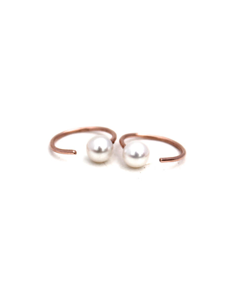 Tiny Pearls Hoops Earrings - Founders & Followers - Lumo - 1