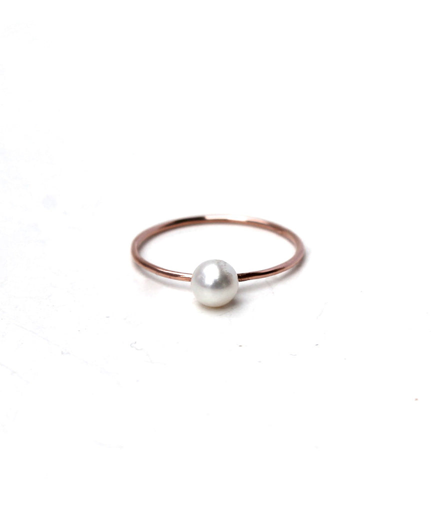 Tiny Pearl Ring - Founders & Followers - Lumo
