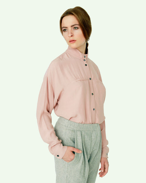 Mandarin Collar Blouse - Founders & Followers - Suzanne Rae - 1