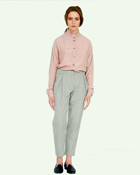 Mandarin Collar Blouse - Founders & Followers - Suzanne Rae - 4