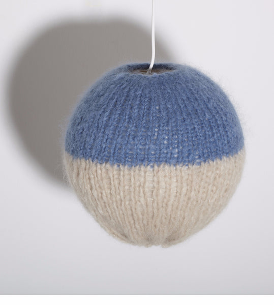 Small Two-Tone Mohair Lampshade - Founders & Followers - Maiami home - 1