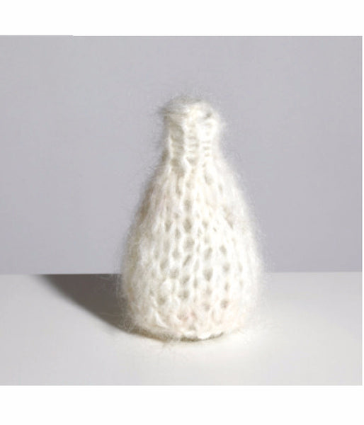 Knitted Mohair Vase in Cream - Founders & Followers - Maiami home - 1