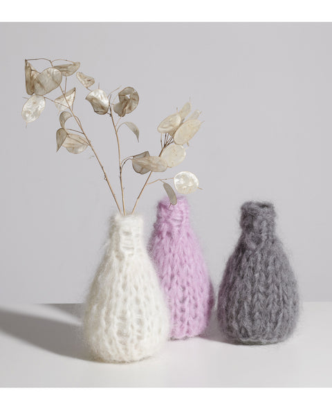 Knitted Mohair Vase in Cream - Founders & Followers - Maiami home - 2
