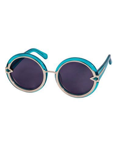 Orbit in Crystal Turquoise - Founders & Followers - Karen Walker - 1