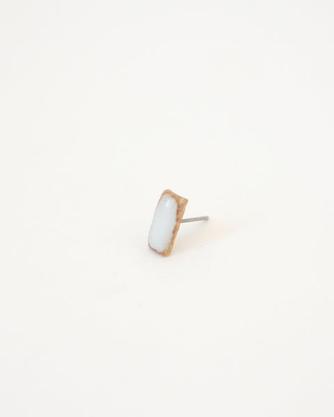 White Rectangle Earring - Founders & Followers - Jujumade - 2