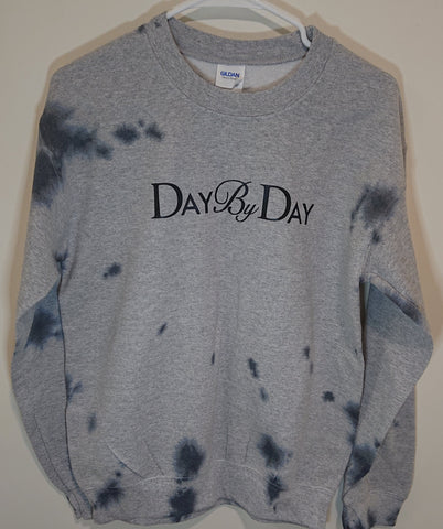 Day By Day Sweater - Black Tie Dye - Small