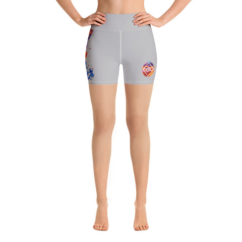Fired Up! Yoga Shorts - Light Grey