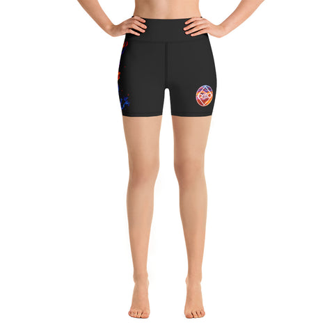 Fired Up! Yoga Shorts - Black