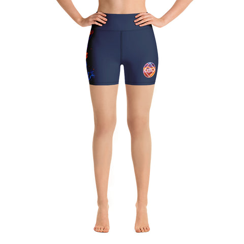 Fired Up! Yoga Shorts - Navy