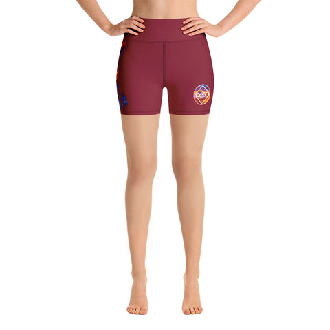 Fired Up! Yoga Shorts - Maroon