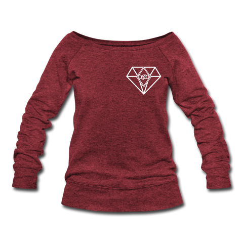 Diamon Wideneck Sweater - cardinal triblend