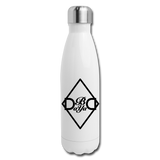 Diamond Insulated Water Bottle - white