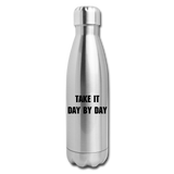 Diamond Insulated Water Bottle - silver