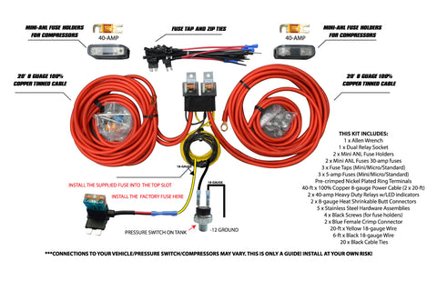 Dual Compressor Wiring Kit by AVS - Complete Air RideComplete Air Ride