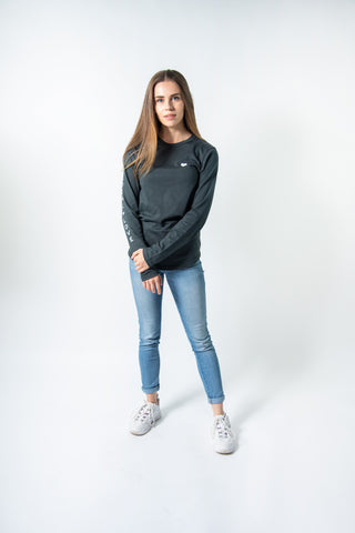 LOCAL LOVE SCRIPT CROP HOODIE BLACK