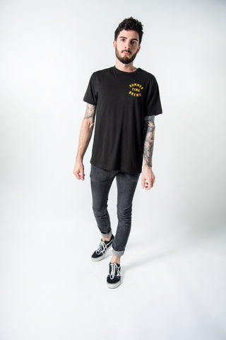 LESS STOCK MARKET CROP CREW BLACK