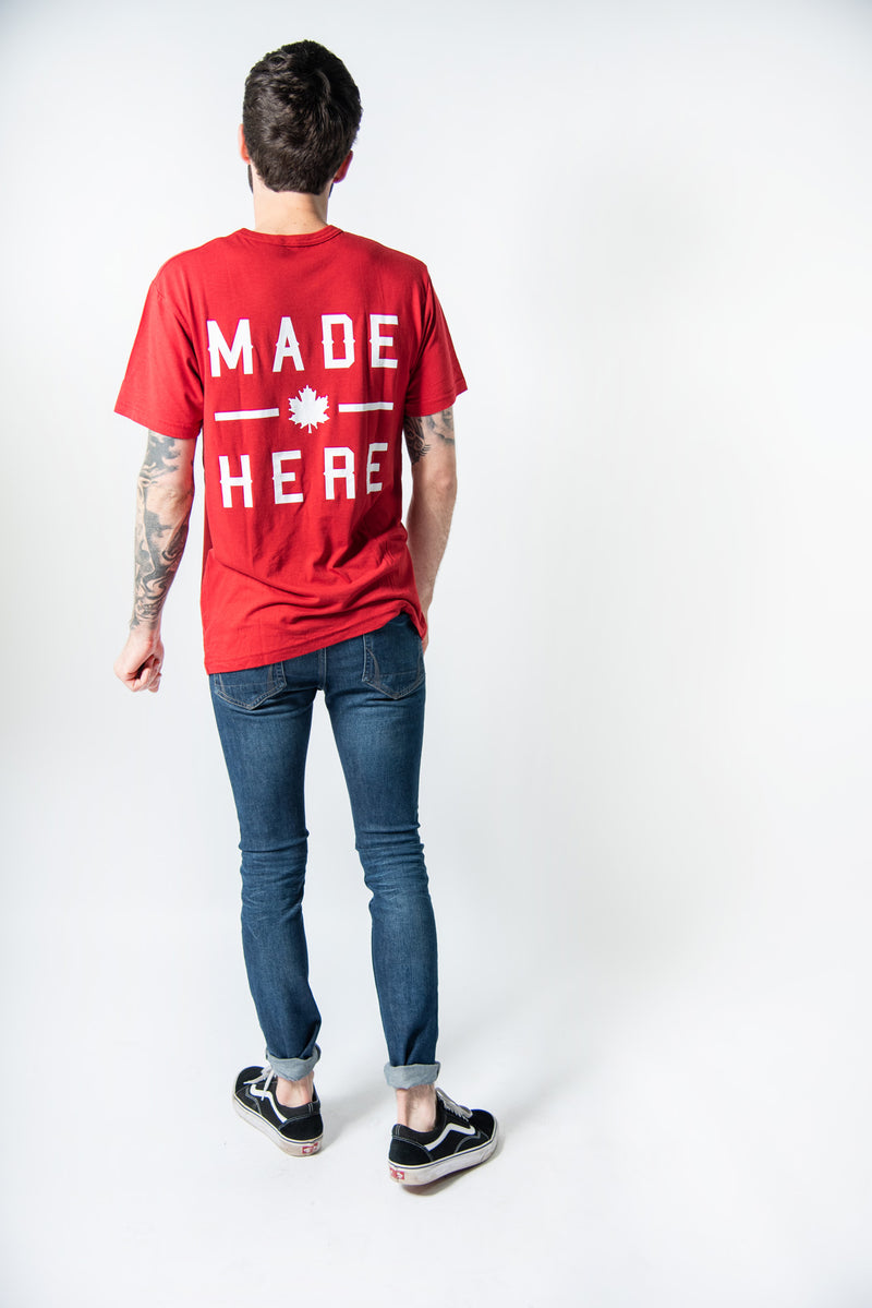 MADE HERE 'TEAM' T-SHIRT RED