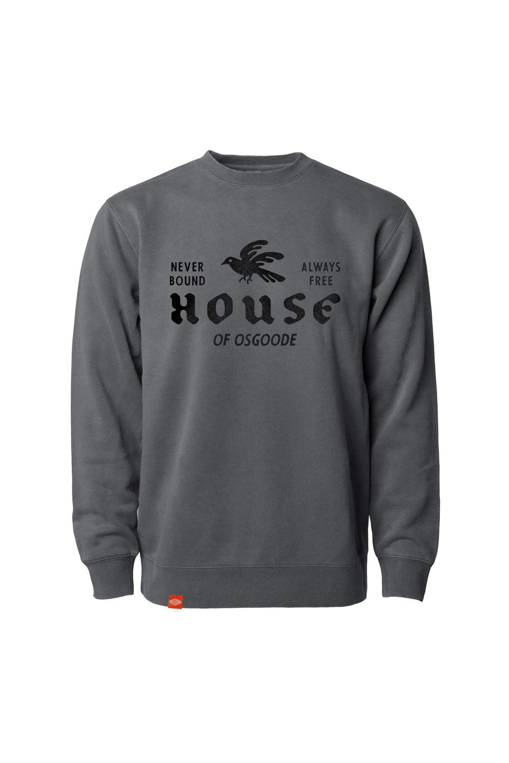 HOUSE CREWNECK FADED BLACK