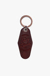 THE MOTTO MOTEL KEYCHAIN - Oxblood