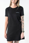 LOCAL LOVE SCRIPT T-SHIRT DRESS BLACK