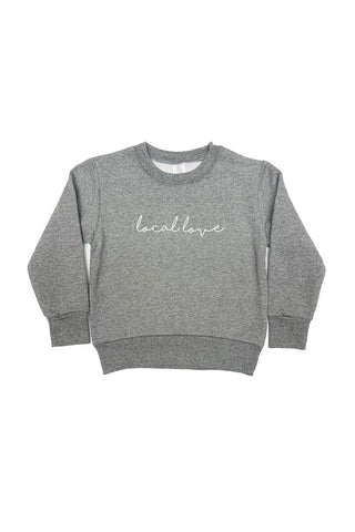 CHILD LOCAL LOVE SCRIPT CREWNECK BLACK