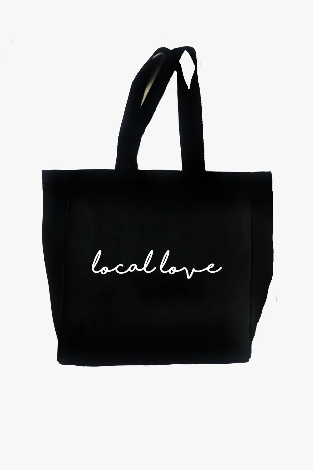 LOCAL LOVE CANVAS TOTE BLACK