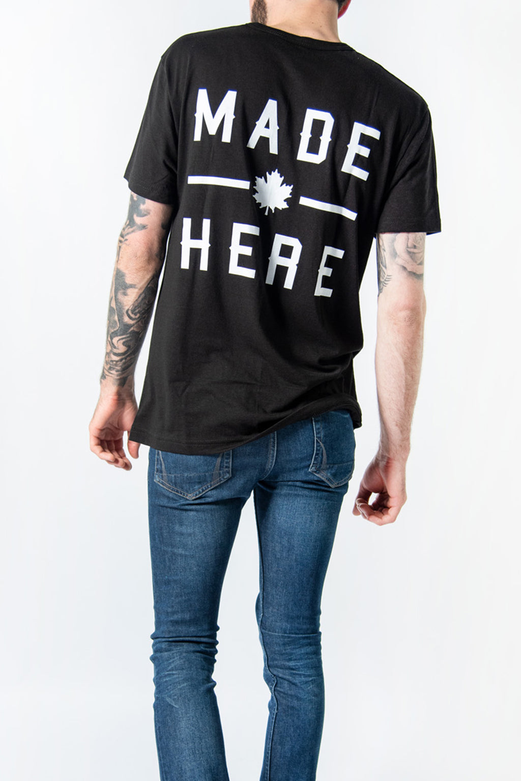 MADE HERE 'TEAM' T-SHIRT BLACK