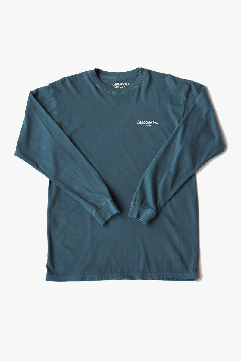 NO BAD DAYS LONG SLEEVE DENIM BLUE