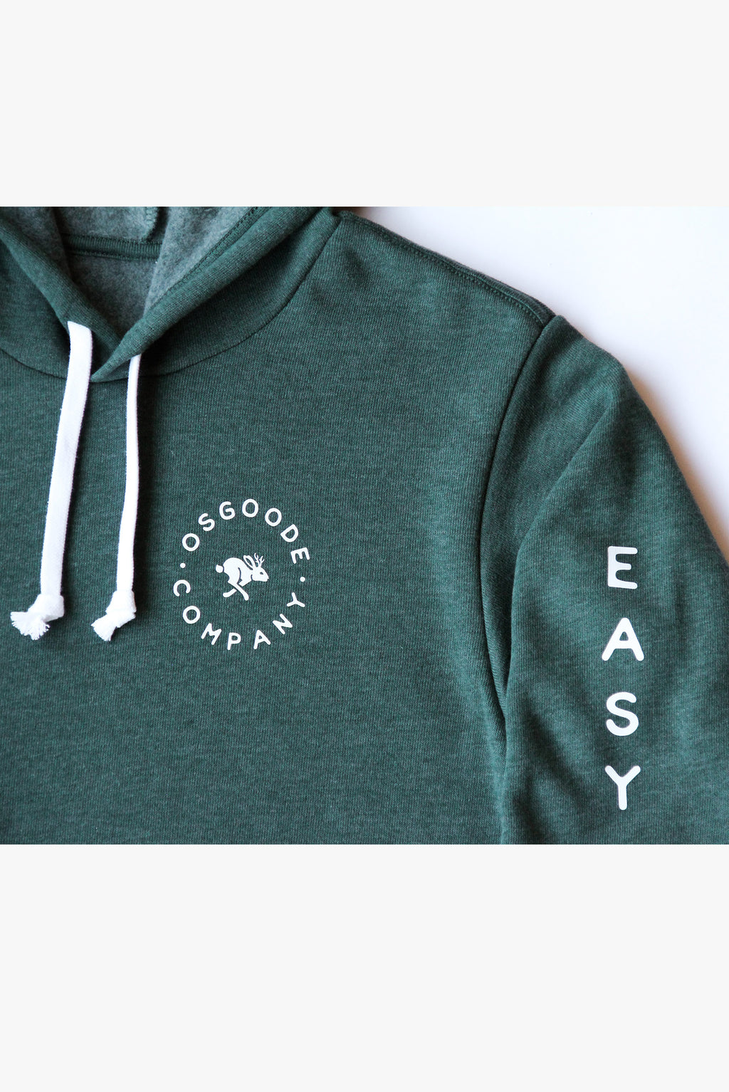 MINI LOGO PULLOVER HOODIE FOREST GREEN