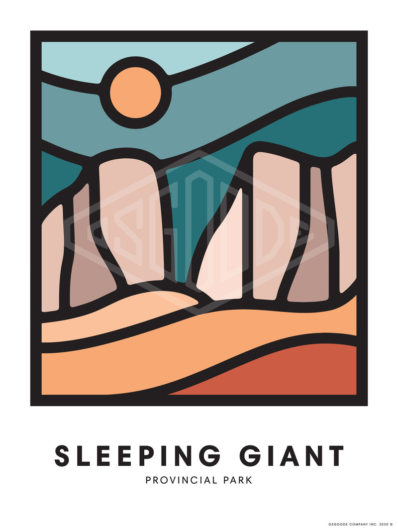 SLEEPING GIANT PRINT