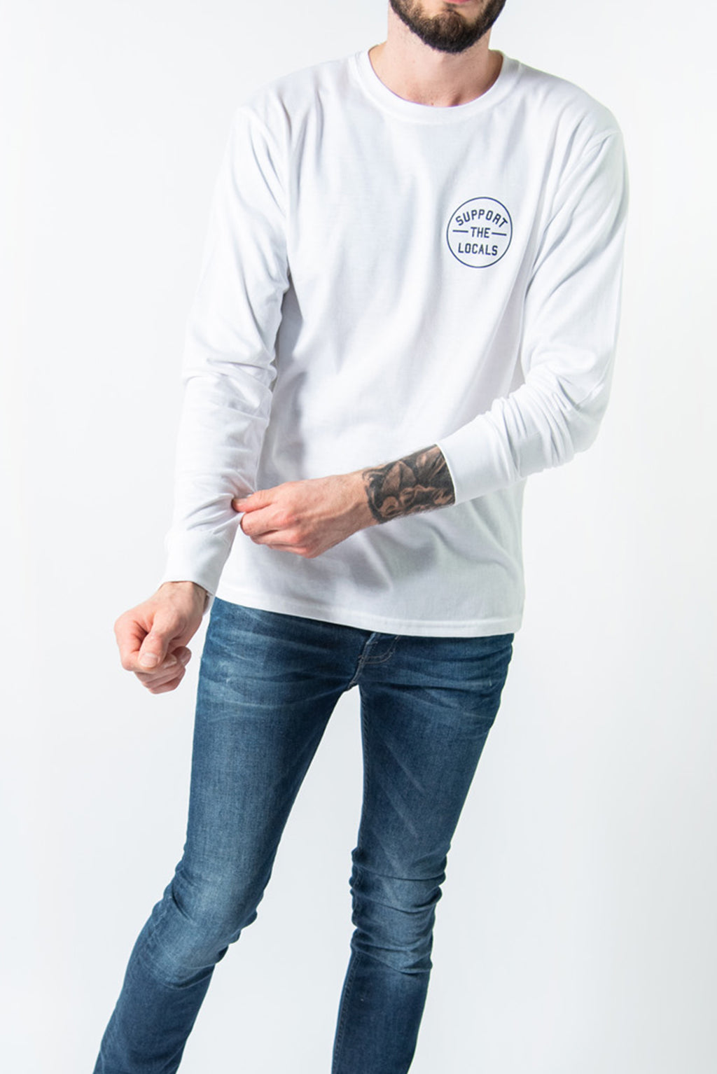 ORIGINAL LOGO LONG SLEEVE WHITE