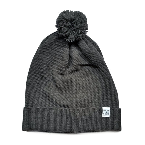 LOCAL POM POM TOQUE BLACK/WHITE