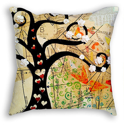 Dress Pattern Collage Designer pillow created by artist Redstreake