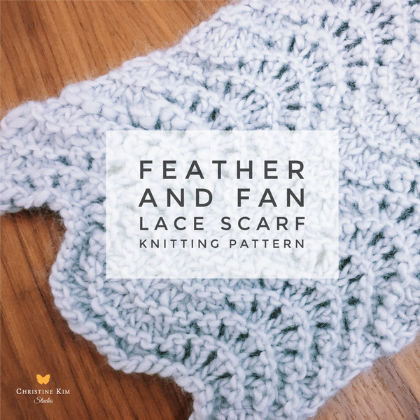 Feather and Fan Lace Scarf Knitting Pattern