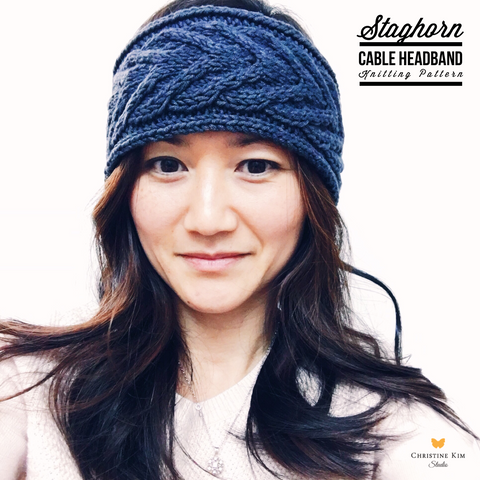 Staghorn Cable Headband Knitting Pattern