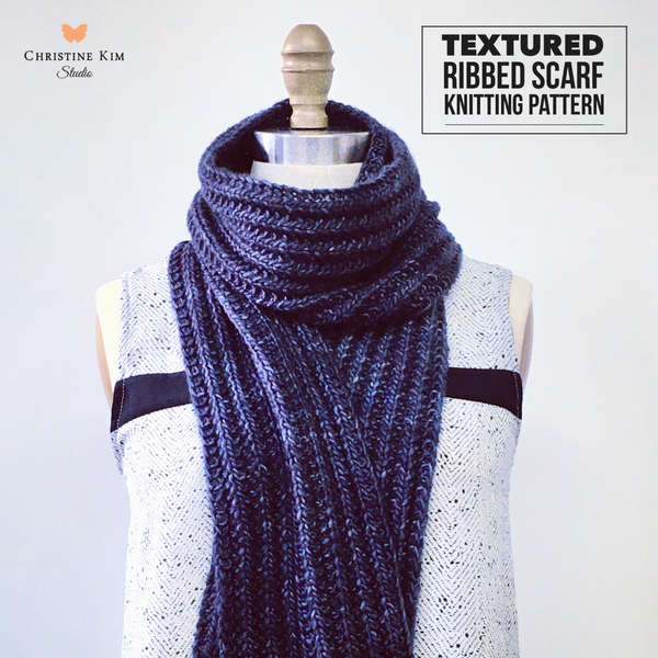 Textured Ribbed Scarf Knitting Pattern