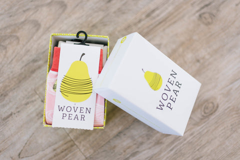 Woven Pear Box (Fits up to 3 pairs) - Woven Pear