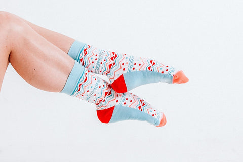 Holiday Funfetti Socks Woven Pear