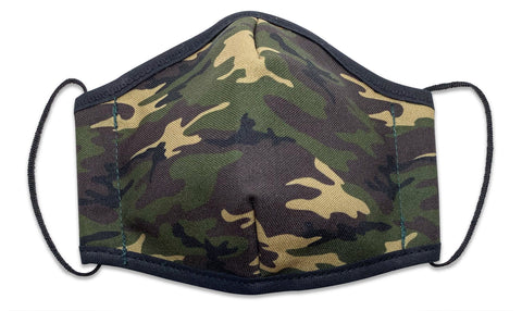 Reusable Face Mask Army Camo - Woven Pear