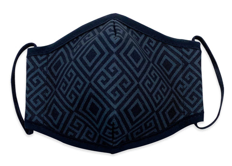 Reusable Face Mask Black Pattern - Woven Pear