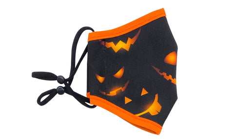 Reusable Face Mask Jack O'Lanterns Face Masks Woven Pear