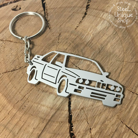 BMW M3 E30 Stainless Steel Keychain