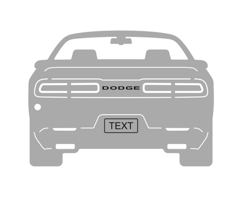 Dodge Challenger Rear view Keychain