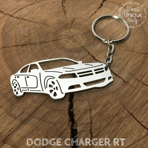 Dodge Charger RT Side Keychain