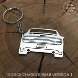 Dodge Charger Rear view Keychain