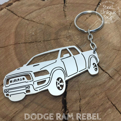 Dodge Ram Rebel Side Keychain