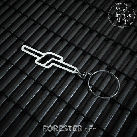 Subaru FOZ Stainless Steel Keychain Version 1