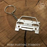 Ford Mustang Foxbody Keychain